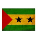Sao Tome and Principe Flag Postcards (Package of 8