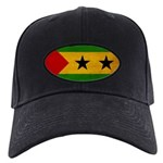 Sao Tome and Principe Flag Black Cap