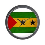 Sao Tome and Principe Flag Wall Clock