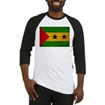 Sao Tome and Principe Flag Baseball Jersey