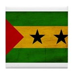 Sao Tome and Principe Flag Tile Coaster