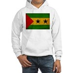 Sao Tome and Principe Flag Hooded Sweatshirt