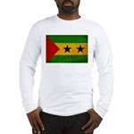 Sao Tome and Principe Flag Long Sleeve T-Shirt