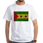Sao Tome and Principe Flag White T-Shirt