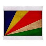 Seychelles Flag Throw Blanket