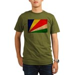 Seychelles Flag Organic Men's T-Shirt (dark)