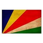 Seychelles Flag Sticker (Rectangle 50 pk)