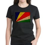 Seychelles Flag Women's Dark T-Shirt