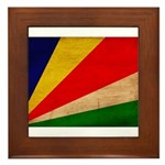 Seychelles Flag Framed Tile