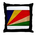 Seychelles Flag Throw Pillow