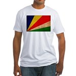 Seychelles Flag Fitted T-Shirt