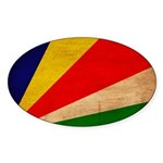 Seychelles Flag Sticker (Oval)