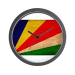 Seychelles Flag Wall Clock
