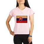 Slovakia Flag Performance Dry T-Shirt