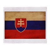Slovakia Flag Throw Blanket