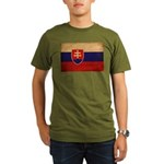 Slovakia Flag Organic Men's T-Shirt (dark)