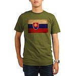 Slovakia Flag Organic Men's T-Shirt (dark)