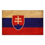 Slovakia Flag Sticker (Rectangle 50 pk)