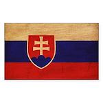 Slovakia Flag Sticker (Rectangle 50 pk)
