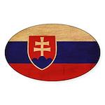 Slovakia Flag Sticker (Oval 50 pk)