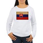 Slovakia Flag Women's Long Sleeve T-Shirt