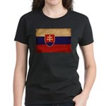 Slovakia Flag Women's Dark T-Shirt