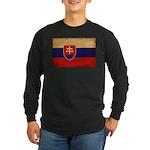 Slovakia Flag Long Sleeve Dark T-Shirt