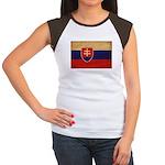 Slovakia Flag Women's Cap Sleeve T-Shirt
