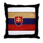 Slovakia Flag Throw Pillow