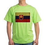 Slovakia Flag Green T-Shirt