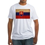 Slovakia Flag Fitted T-Shirt