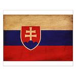 Slovakia Flag Small Poster