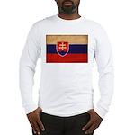 Slovakia Flag Long Sleeve T-Shirt