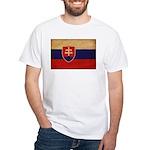 Slovakia Flag White T-Shirt