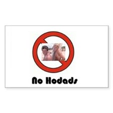 No Hodads Rectangle Decal