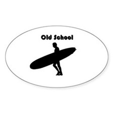 Old School Surfer Oval Decal