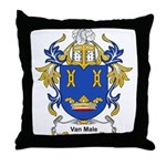 Van Male Coat of Arms Throw Pillow