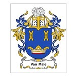 Van Male Coat of Arms Small Poster