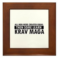 Krav Maga design Framed Tile