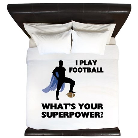 Football Superhero King Duvet