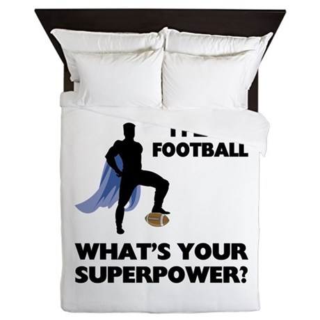 Football Superhero Queen Duvet