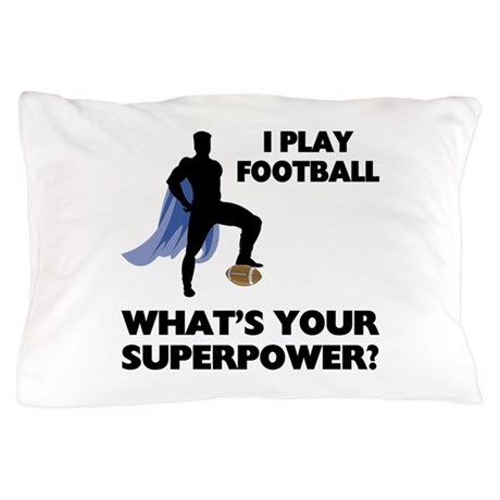 Football Superhero Pillow Case