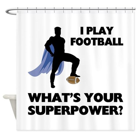 Football Superhero Shower Curtain