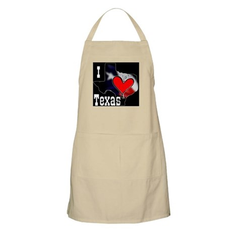 I Love Texas BBQ Apron