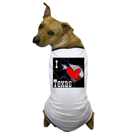 I Love Texas Dog T-Shirt