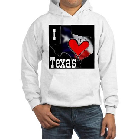 I Love Texas Hooded Sweatshirt