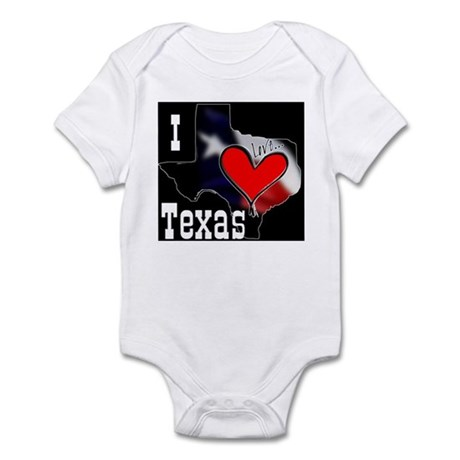 I Love Texas Infant Creeper