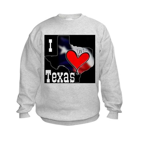 I Love Texas Kids Sweatshirt