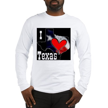 I Love Texas Long Sleeve T-Shirt