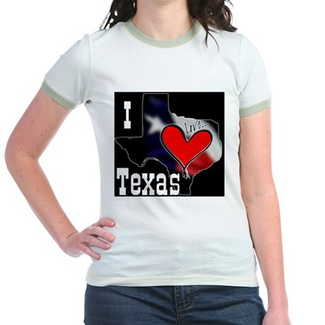 I Love Texas Jr. Ringer T-Shirt